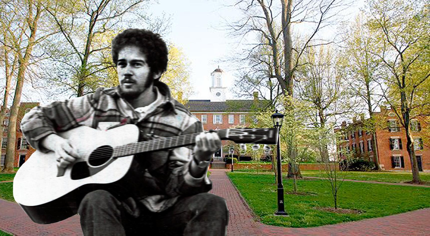 Bud Kraus playing guitar - College Green, Ohio U
